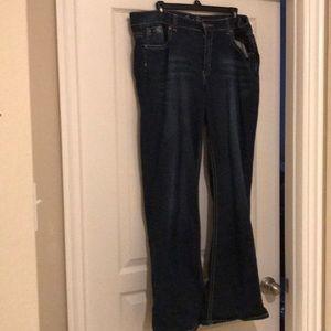 Jr Plus Wide Leg Jeans